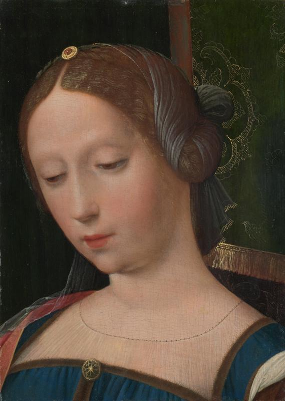 the Workshop of the Master of the Female Half-Lengths - A Female Head